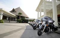 アジア・パシフィック地域に向けた2014年モデル発表試乗会は、マレーシアでも有数のビーチリゾート、Golden Palm Tree Resort & Spaで開催。すべてのコテージは海の上にあります。