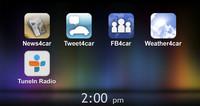 iPhone連携で利用可能なアプリは現在のところ5つ。今後はもっと増やしていくというから楽しみだ。
