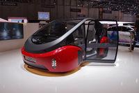 2017年3月のジュネーブモーターショーにリンスピードが出展したコンセプトカー「オアシス」。自動運転機能を持つEVである。