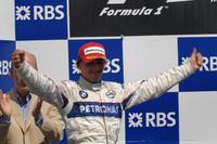 カナダで初優勝を飾ったロバート・クビサ。これ以降、マシンはパフォーマンスを落としていったが、それでも随所で光る走りを披露し、ドライバーズランキング4位に。(写真=BMW)