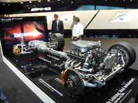 「SLS AMG」のパワートレイン。