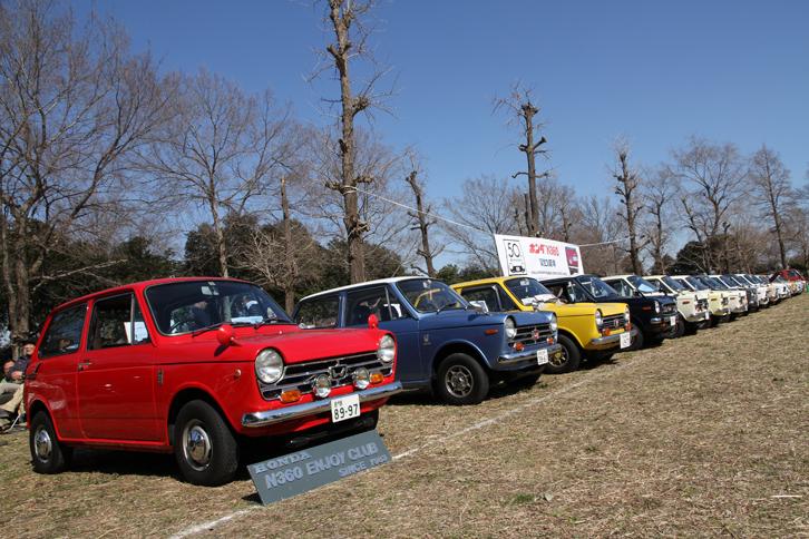 ホンダN360エンジョイクラブのメンバーを中心に「N360」シリーズが18台、派生モデルである軽トラックの「TN-V」と「バモスホンダ」が1台ずつエントリーした。