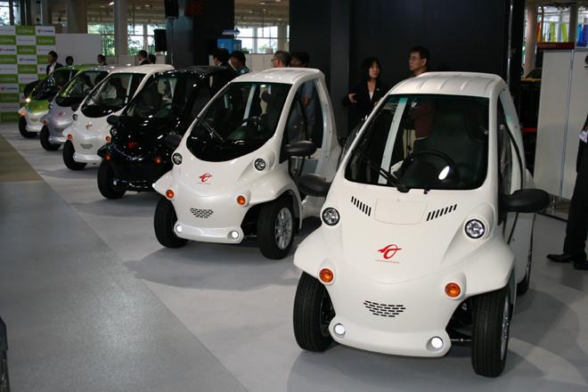 トヨタ車体の超小型電気自動車「コムス」