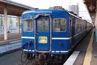 青森駅に停車する夜行急行「はまなす」。2016年3月21日の青森発札幌行きを最後に運行を終了した。
