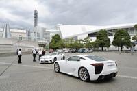 「ワクドキ体験会」会場には、極めてレアなスーパースポーツカー「レクサスLFA」が複数台並べられた。