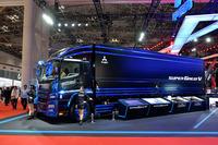三菱ふそうの大型トラックを体感の画像