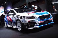 全日本ラリーへの参戦予定車両「WRX STI」(写真は新井敏弘選手のマシン)。