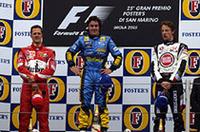 【F1 2005】第4戦サンマリノGP、大接戦をアロンソが制し3連覇、シューマッハー13位から2位表彰台!の画像