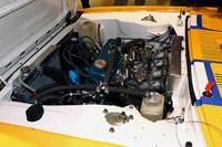 レーシングチューンが施されて搭載されたA型エンジン。