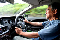 ガソリン車の「ボルボV40」にも幾度となく試乗してきた著者。今回は、ディーゼル車を駆り、主にその燃費性能をテストした。