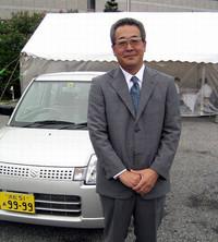 6代目アルトのチーフエンジニア、綾部和彦さん。