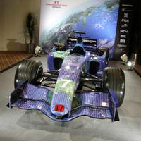 会場には、地球カラーリングを纏うホンダのマシンが展示された。 なお、2008年には、エンジンに留まらず、ホンダからスーパーアグリに車体も供給できるよう準備を進めているとのことだ。