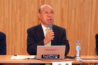 EVコンバージョンガイドラインの要点を説明したのは、電気自動車普及協議会の田嶋伸博代表幹事。