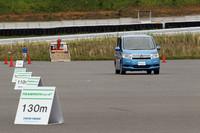 試走前に、旧製品「トランパス MP4」と新製品「トランパス mpF」の転がり抵抗比較テストが行われた。