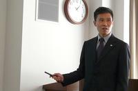 新技術「オロジック」の概要を説明する、ブリヂストン タイヤ研究本部 操安研究ユニットリーダーの松本浩幸氏。