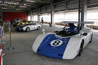 ピットビル3階に展示されていたヒストリックマシンの一部。手前からトヨタ7、スポーツ800、トヨタ2000GT、クラウンRSD。