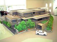 全14戸で一台一台に屋根付き平地の駐車場が付く。もちろんセンチュリーまで収納可能なサイズ