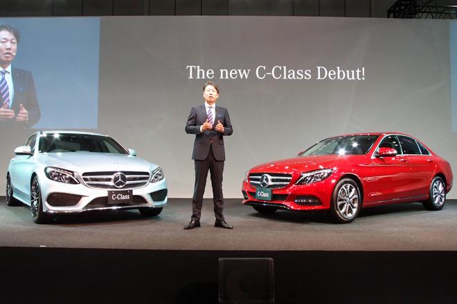 新型「メルセデス・ベンツCクラス」の発表会でオープニングのあいさつを述べる、メルセデス・ベンツ日本 代表取締役社長兼CEOの上野金太郎氏。