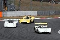 R381とR382のランデブー走行に、同時代の最大のライバルだったトヨタ7がからむ。オールドファンにはたまらない光景である。