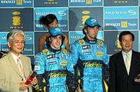 ドコモ主催「ルノーF1チーム応援パーティー」にアロンソらあらわるの画像