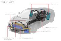 ラジエーターやインタークーラーといった冷却システムのレイアウト。