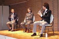 写真左より、モータージャーナリストの清水和夫氏、金子浩久氏、島下泰久氏。