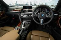 「440iクーペ Mスポーツ」のインストゥルメントパネルまわり。テスト車にはオプションで用意される「BMW Individual」のインテリアパッケージが採用されていた。