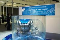 マツダは次世代パワートレイン「SKY-G」を展示。