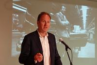 アルピーヌのゼネラルダイレクターを務めるマイケル・ヴァン・デル・サンデ氏。「日本はアルピーヌの熱烈なファンがいる国。欧州以外で最初に展開する市場として大変重視している」などと述べた。