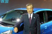 発表会ではホンダの福井威夫社長自らクルマを紹介。「我々の自信作」と太鼓判を押した。