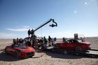 ジャガーとリドリー・スコット・アソシエイツが共同製作したスペシャルショートムービー『デザイア』の撮影風景。