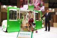 さまざまなユーザーがクルマで移動できるようにするため、乗り降りのしやすさを徹底的に追求したというコンセプトカー「ノリオリ」。