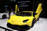 今回のショーでお披露目された「ランボルギーニ・アヴェンタドール LP720-4 50°アニヴェルサリオ」。ランボの創立50周年を記念した限定モデルだ。