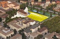 エンツォ生家&モータースポーツ・ミュージアムの完成予想図。
