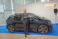 新春記者発表会では、電気自動車「BMW i3」のマイナーチェンジモデルも発表された。