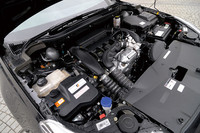 今回試乗した車両に搭載される1.6リッター直4ターボエンジン。最高出力156ps/6000rpm、最大トルク24.5kgm/1400-3500rpmを発生する。