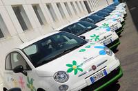 ランディレンツォ社が公開した「フィアット500 LPG仕様」。