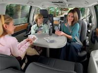「クライスラー・グランドボイジャーリミテッド」2009年モデルは2列目回転シートを採用