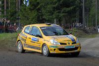 今季初優勝を手にした、パトリック・サンデルの「ルノー・クリオR3」。