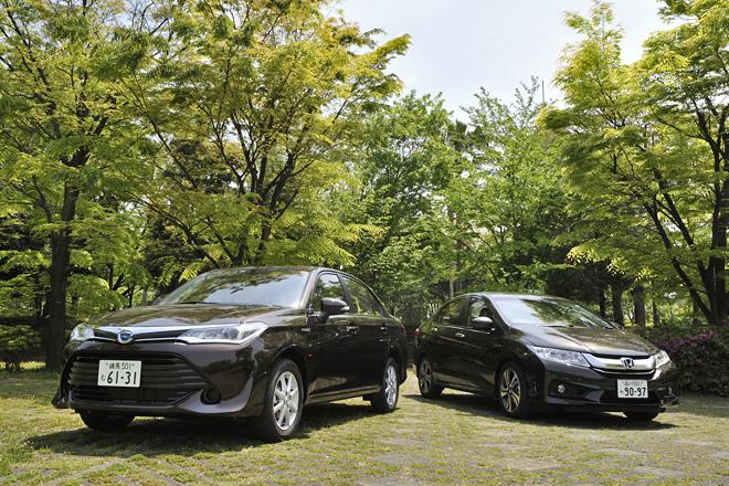 トヨタ・カローラ アクシオ ハイブリッドG(FF/CVT)/ホンダ・グレイスHYBRID EX(FF/7AT)【試乗記】