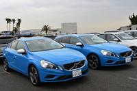 今日のボルボの好調をけん引するのが「60」シリーズ。水色のボディーが鮮やかな写真の2台は、セダンの「S60」(左)とワゴンの「V60」(右)。