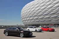 写真左から「S7スポーツバック」「S6アバント」そして「S6」。(写真は欧州仕様車)