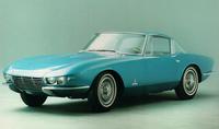 ピニンファリーナ時代における別の作品。「シボレー・コルベット ロンディネ」。1963年のパリモーターショーで公開された。