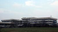 アルファ・ロメオ博物館と隣接する社屋。(2011年3月撮影)