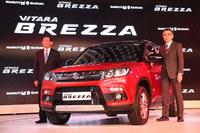 2016年のオートエキスポでスズキが発表した小型SUV「ビターラ ブレッツァ」。SUVはインドでも高い人気を誇っている。