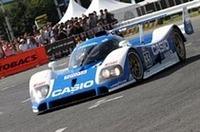 1992年のルマンで2位に入賞したトヨタTS010。ステアリングを握るのは、1995年に日本人初のルマン・ウィナーとなった関谷正徳氏。