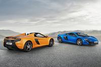 マクラーレンの「650Sスパイダー」(写真左)と「650S」。
