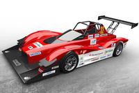 三菱が2014年のパイクスピークに投入する競技車両の「MiEV Evolution III」。