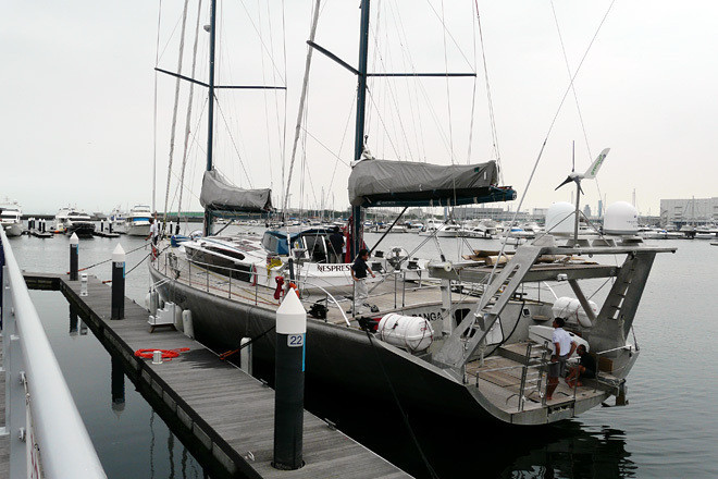 横浜ベイサイドマリーナに停泊する大きな帆船「パンゲア号」。これは地球規模のビッグプロジェクトの名前でもある。