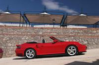 【スペック】 911ターボカブリオレ(6MT):全長×全幅×全高=4435×1830×1295mm/ホイールベース=2350mm/車重=1660kg/駆動方式=4WD/3.6リッター水平対抗6DOHC24バルブターボ・インタークーラー付き(420ps/6000rpm、57.1kgm/2700-4600rpm)